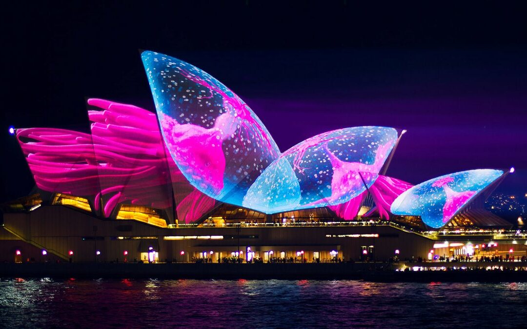 Lighting the Sails in Sydney